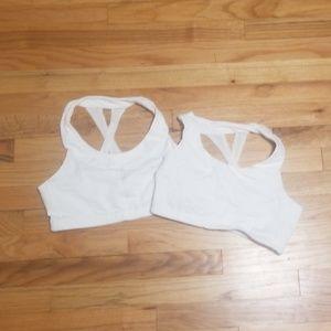 Athleta white sports bras